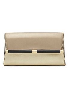 440 Envelope Mixed Metallic Leather Clutch
