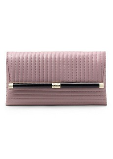 440 Envelope Rail Quilted Leather Clutch