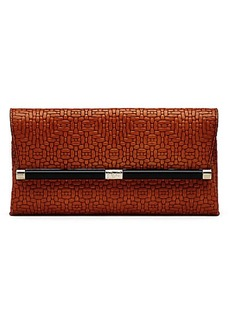 440 Envelope Weaved Leather Clutch