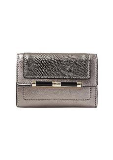440 Flap Metallic Leather Card Case