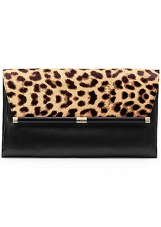440 Large Envelope Leopard Haircalf Clutch