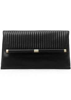 440 Large Envelope Rail Quilted Leather Clutch