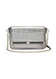 440 Martini Metallic Croc Crossbody Bag