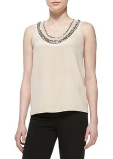 Ade Sleeveless Jewel-Neck Top   Ade Sleeveless Jewel-Neck Top