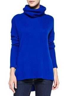 Ahiga High-Low Cashmere Turtleneck Sweater   Ahiga High-Low Cashmere Turtleneck Sweater
