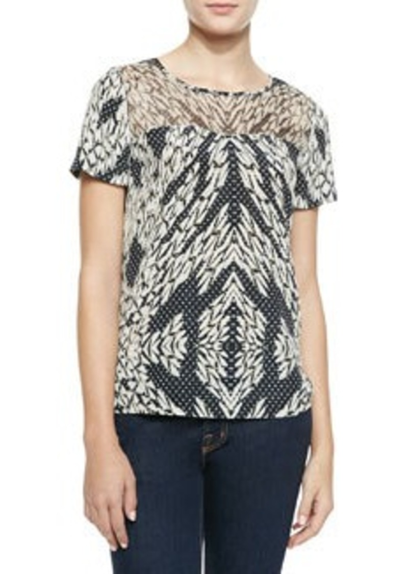 Angela Printed Georgette Blouse   Angela Printed Georgette Blouse
