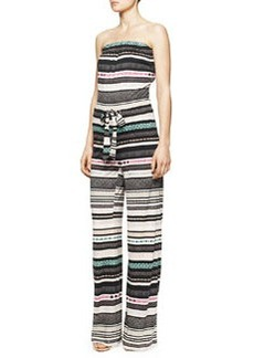 Ani Strapless Banded Dot Jumpsuit, Multicolor   Ani Strapless Banded Dot Jumpsuit, Multicolor