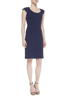 April Cap-Sleeve Scoop-Neck Sheath Dress   April Cap-Sleeve Scoop-Neck Sheath Dress
