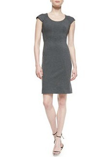 April Cap-Sleeve Structured Jersey Dress   April Cap-Sleeve Structured Jersey Dress