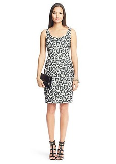 Arianna Leopard Combo Scoop Neck Dress