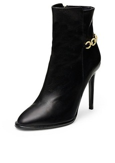 Beckett Chain Detail Leather Bootie