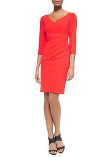 Bevin 3/4-Sleeve Dress W/ Bias Skirt   Bevin 3/4-Sleeve Dress W/ Bias Skirt