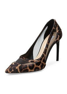 Blaize Leopard Haircalf Mesh Cutout Pump