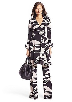 Bruna Wool Knit Wrap Dress