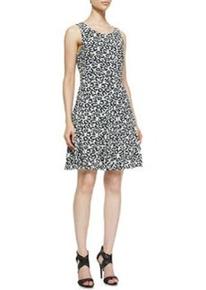 Clara Leopard-Print Fit-And-Flare Dress   Clara Leopard-Print Fit-And-Flare Dress