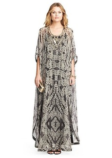 Clare Beaded Chiffon Kaftan Maxi Dress