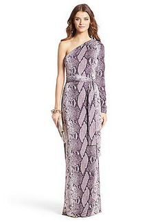 Coco Silk Jersey One Shoulder Maxi Wrap Dress