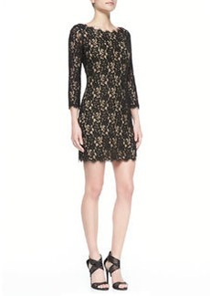 Colleen 3/4-Sleeve Lace Dress   Colleen 3/4-Sleeve Lace Dress