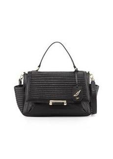 Diane von Furstenberg 440 Courier Rail Quilted Leather Satchel Bag, Black