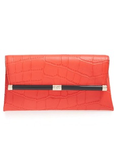 Diane von Furstenberg '440' Croc Embossed Leather Envelope Clutch