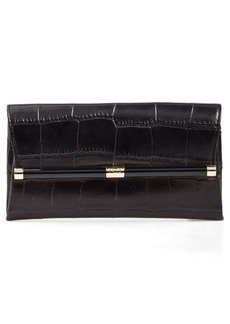 Diane von Furstenberg '440' Croc-Embossed Leather Envelope Clutch