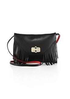 Diane von Furstenberg 440 Gallery Folio Fringed Leather Crossbody Bag
