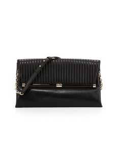Diane von Furstenberg 440 Large Envelope Rail Clutch Bag, Black