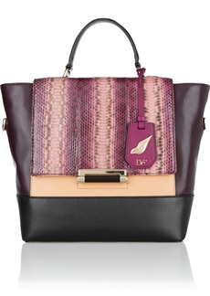 Diane von Furstenberg 440 leather and elaphe tote