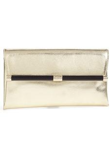 Diane von Furstenberg '440' Metallic Lizard Embossed Leather Envelope Clutch