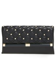Diane von Furstenberg '440' Quilted Leather Envelope Clutch