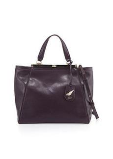 Diane von Furstenberg 440 Runaway Leather Tote Bag, Aubergine
