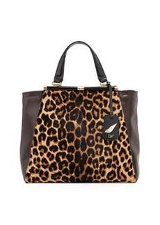 Diane von Furstenberg 440 Runway Tote Bag, Leopard/Mahogany
