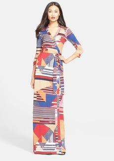 Diane von Furstenberg 'Abigail' Print Silk Maxi Wrap Dress