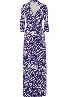 Diane von Furstenberg Abigail printed stretch-jersey wrap dress