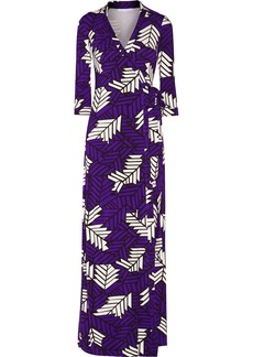 Diane von Furstenberg Abigail printed stretch-jersey wrap dress