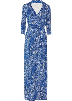 Diane von Furstenberg Abigail snake-print jersey wrap dress