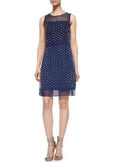 Diane von Furstenberg Abriela Embellished Dress, Navy