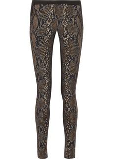 Diane von Furstenberg Addy paneled jacquard and jersey skinny pants