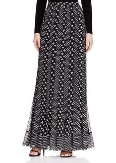 DIANE von FURSTENBERG Addyson Mixed Print Silk Maxi Skirt