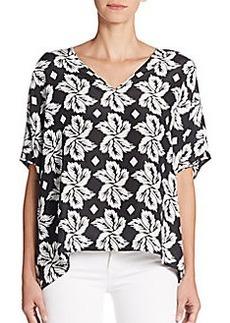Diane von Furstenberg Adria Printed Silk Top