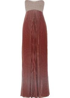 Diane von Furstenberg Adrianna printed cotton-blend and silk-blend gauze gown