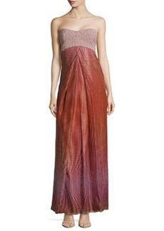 Diane von Furstenberg Adrianna Strapless Pleated-Front Ball Gown, Lantern Dot Russe