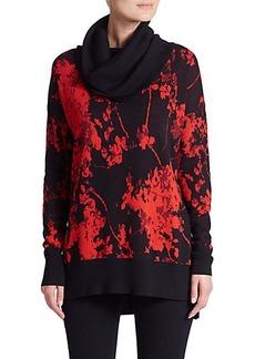 Diane von Furstenberg Ahiga Floral-Print Wool Sweater
