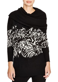 DIANE von FURSTENBERG Ahiga Leaves Jacquard Wool Sweater
