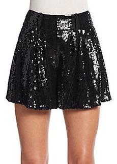 Diane von Furstenberg Aleah Sequined Silk Shorts