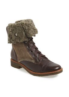 Diane von Furstenberg 'Alexia' Genuine Shearling Lined Combat Boot (Women)