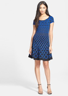 Diane von Furstenberg 'Alina Acorn Moon' Knit Fit & Flare Dress