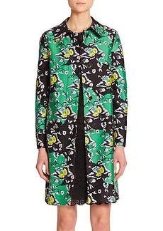 Diane von Furstenberg Amana Wool & Silk Printed Jacket