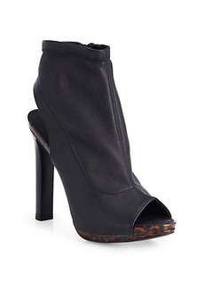 Diane von Furstenberg Amara Stretch Leather High-Heel Ankle Boots