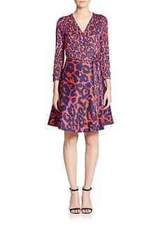 Diane von Furstenberg Amelia Animal-Print Wrap Dress